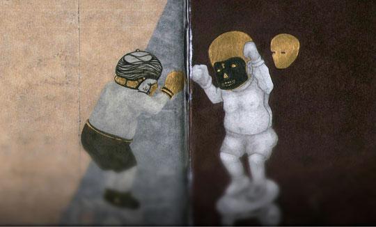 Ilustración, Golden Boy vs El Muerto de Juan Pablo Torres