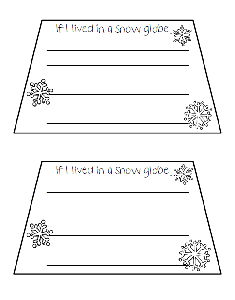 Blank Snow Globe Template If i lived in a snow globe.