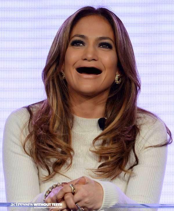 Famosos sin dientes Jennifer Lopez