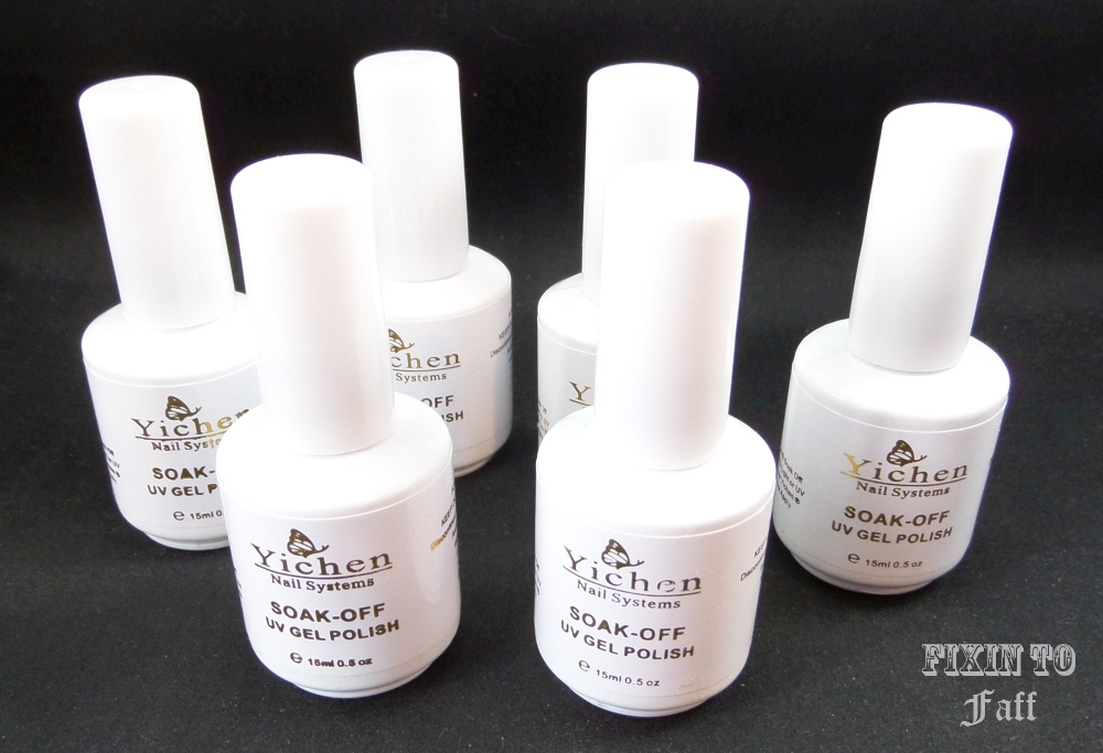 Swatch and review of Yichen UV Soak-Off Gel Polish Set.