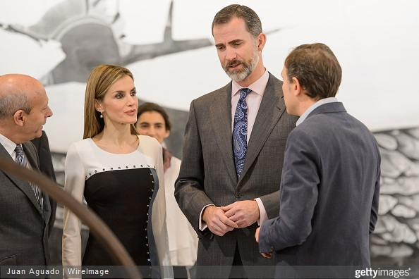 King Felipe VI of Spain and Queen Letizia of Spain attend the opening of ARCO 2015