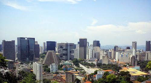 centro do Rio, visto de Santa Tereza