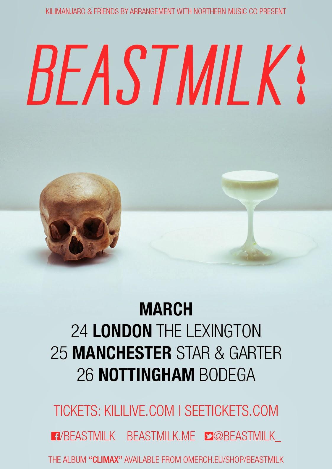 Beastmilk announce long-awaited UK dates