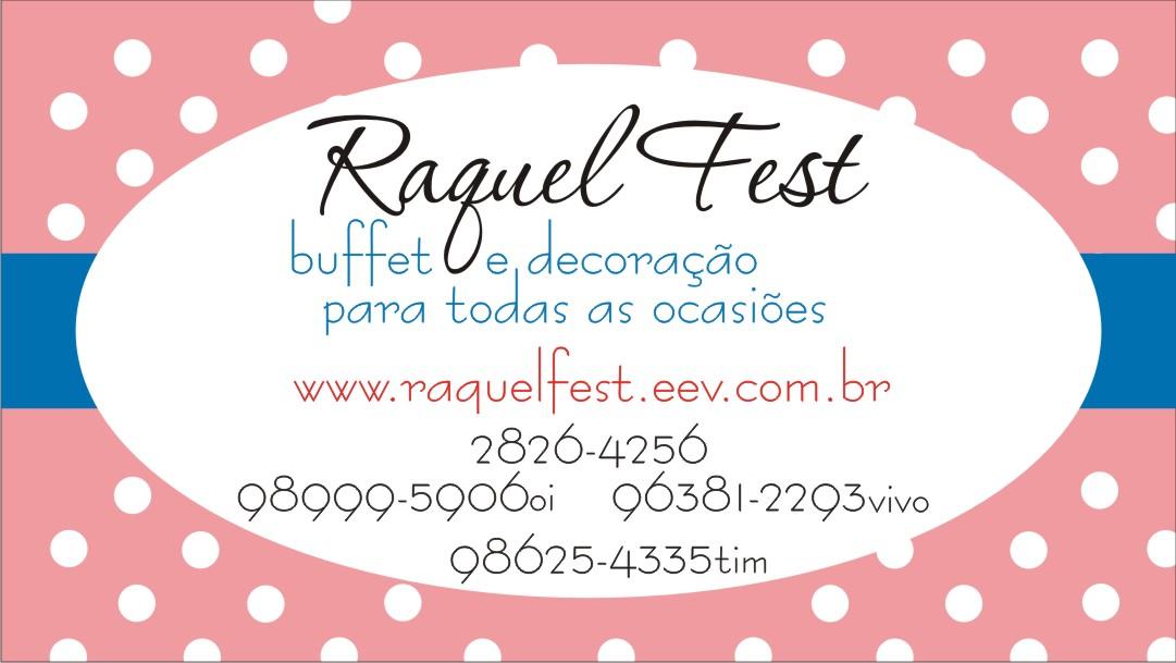 Well-known LL Design Gráfico: Cartão de visita - Buffet e Decoração Raquel Fest IV23