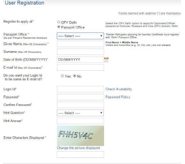 How to register for passport online