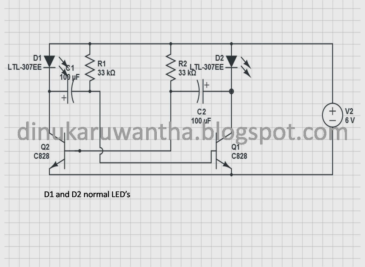 Dinuka Ruwantha Simple Flashing Circuit Blinking Led This Is Actually For Beginners Of Electronics If You Know To Design Circuits Or Read Them Ignore But Youre A Beginner