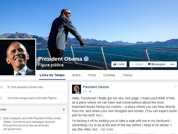 Presidente Obama cria conta pessoal no Facebook