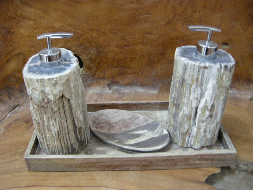 Indogemstone Petrified Wood Bathroom Accessories