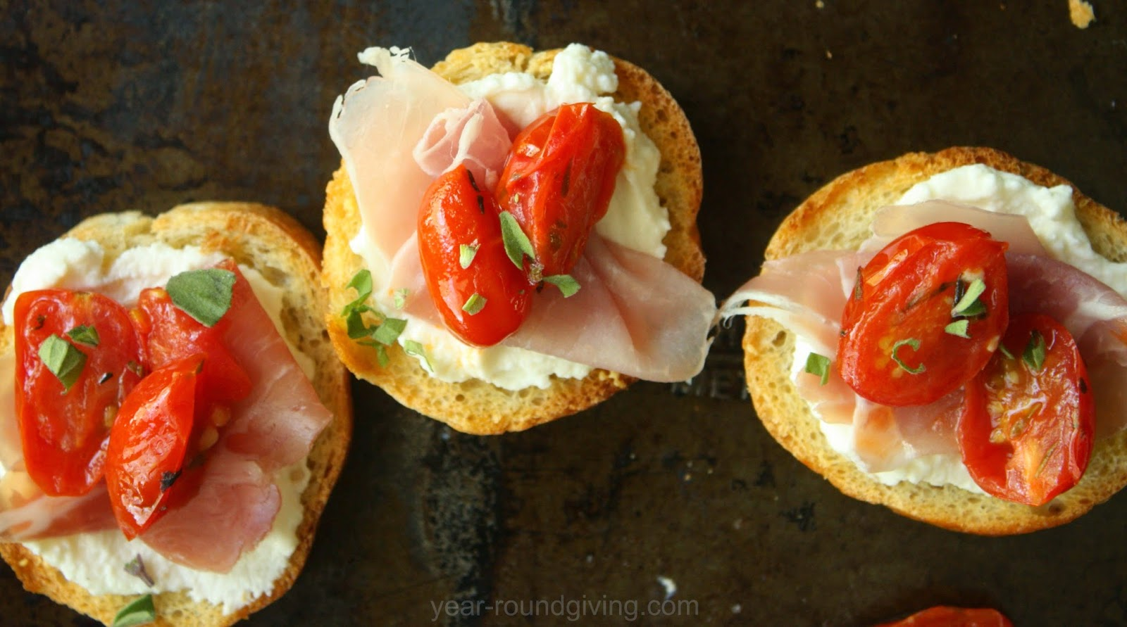 Sauteed Grape Tomato Crostini