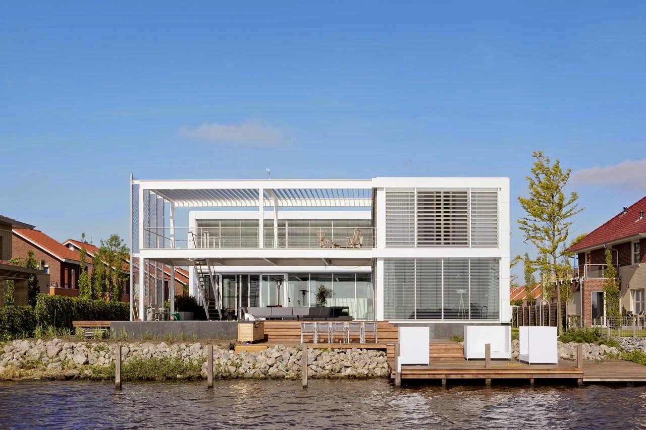 Decoracion actual de moda fachadas de casas modernas - Casas minimalistas de lujo ...