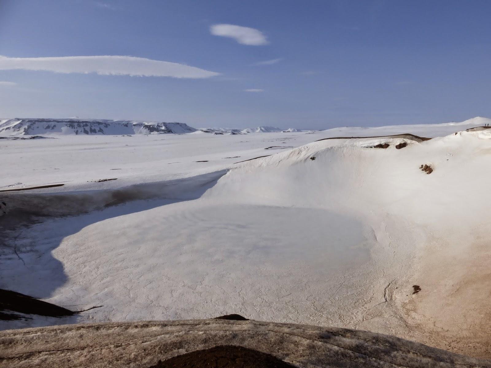 Lago helado Krafla