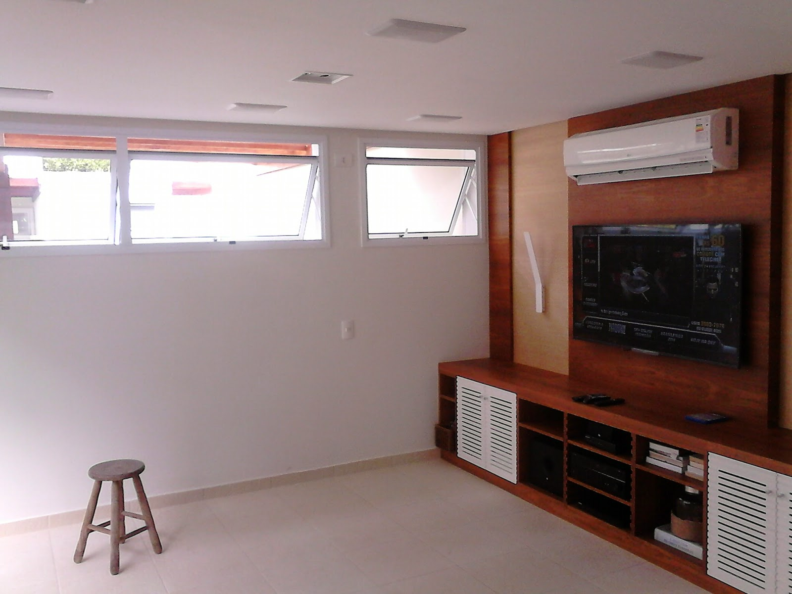 Home Theater Instalamax Litoral -> Sanca De Gesso Sala De Tv