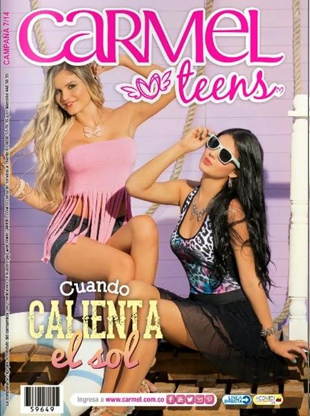 catalogo carmel teens campaña 7 2014