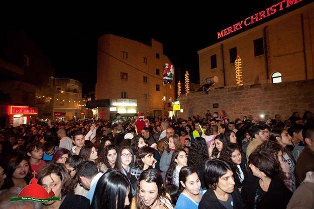 FOTO : Suasana Menyambut Perayaan Natal Di Palestina