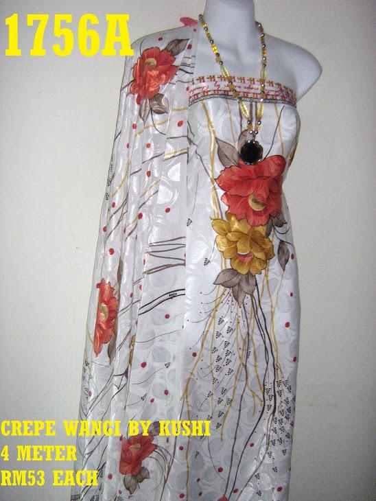 CWK 1756A: CREPE WANGI BY KUSHI, 4 METER