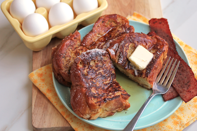 #eggnog french toast #breakfast #christmas #safestchoice #frenchtoast #brunch #eggs