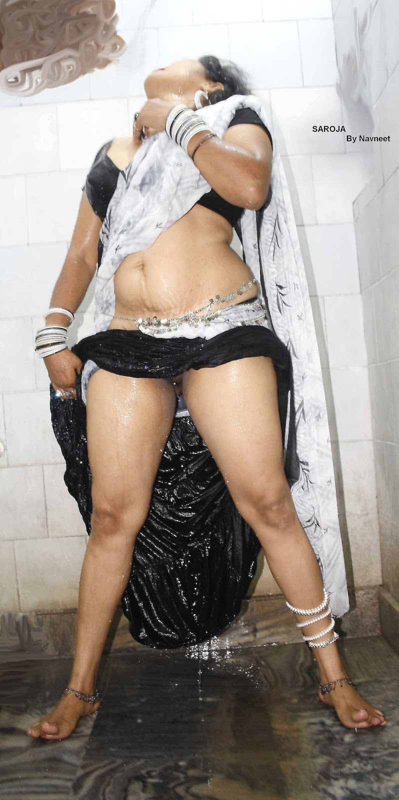 from Lincoln half naked woman with saree