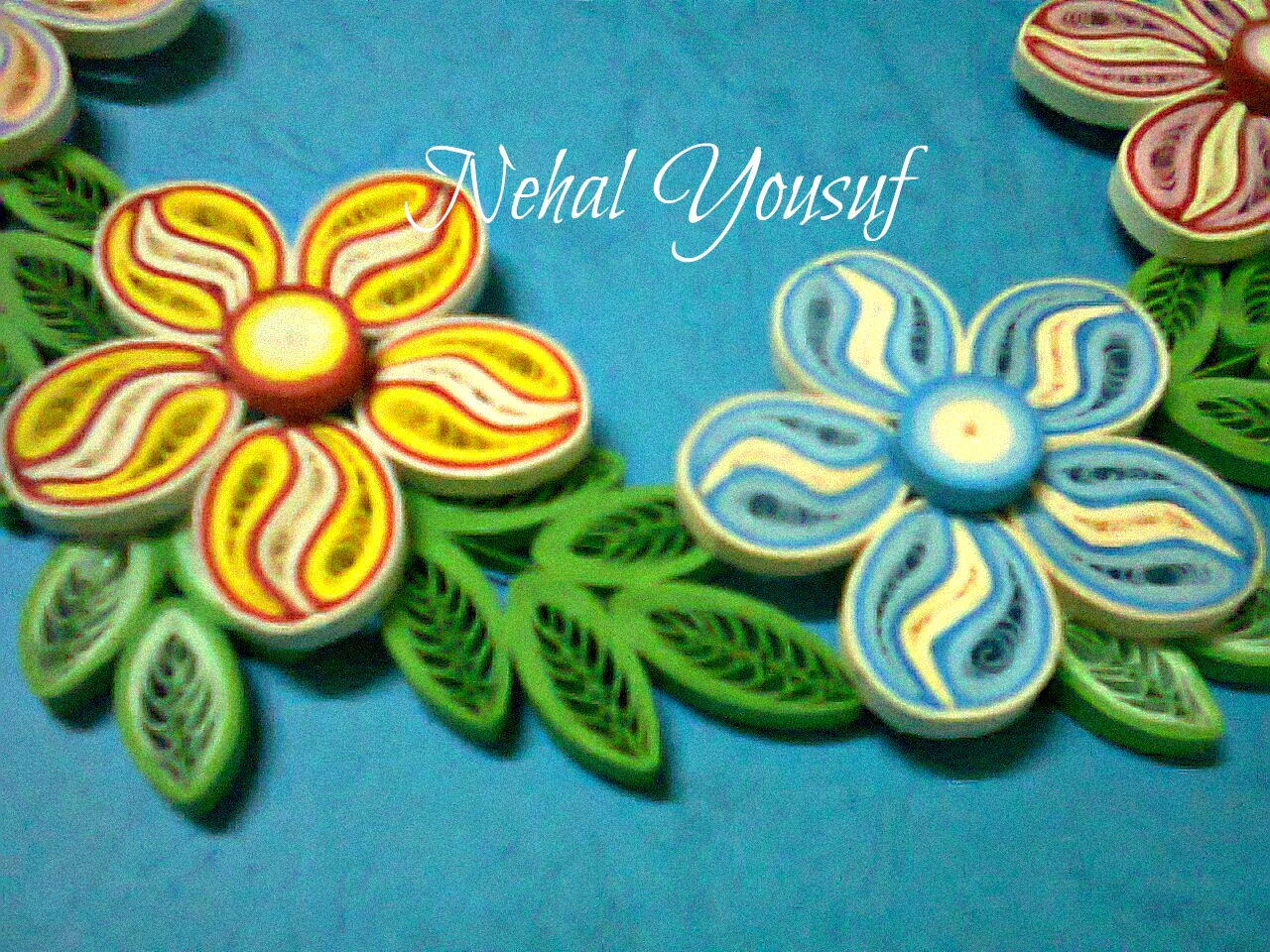 Nehal Quilling Summer Flowers