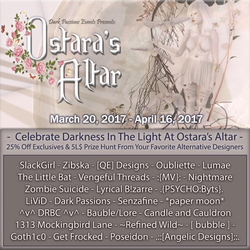 Ostara's Altar March 20-April 16