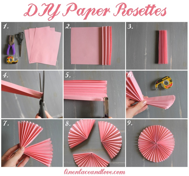 Diy paper rosettes paper rosettes diy party and rosettes mightylinksfo