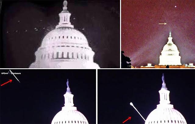 Air Force Officier observation d'OVNI: navire extraterrestre ET repéré à la Maison Blanche de base