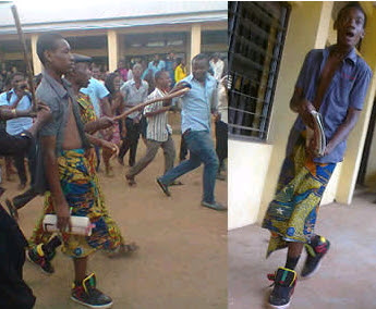 unizik student wears wrapper