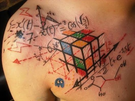 Rubiks cube tatoo