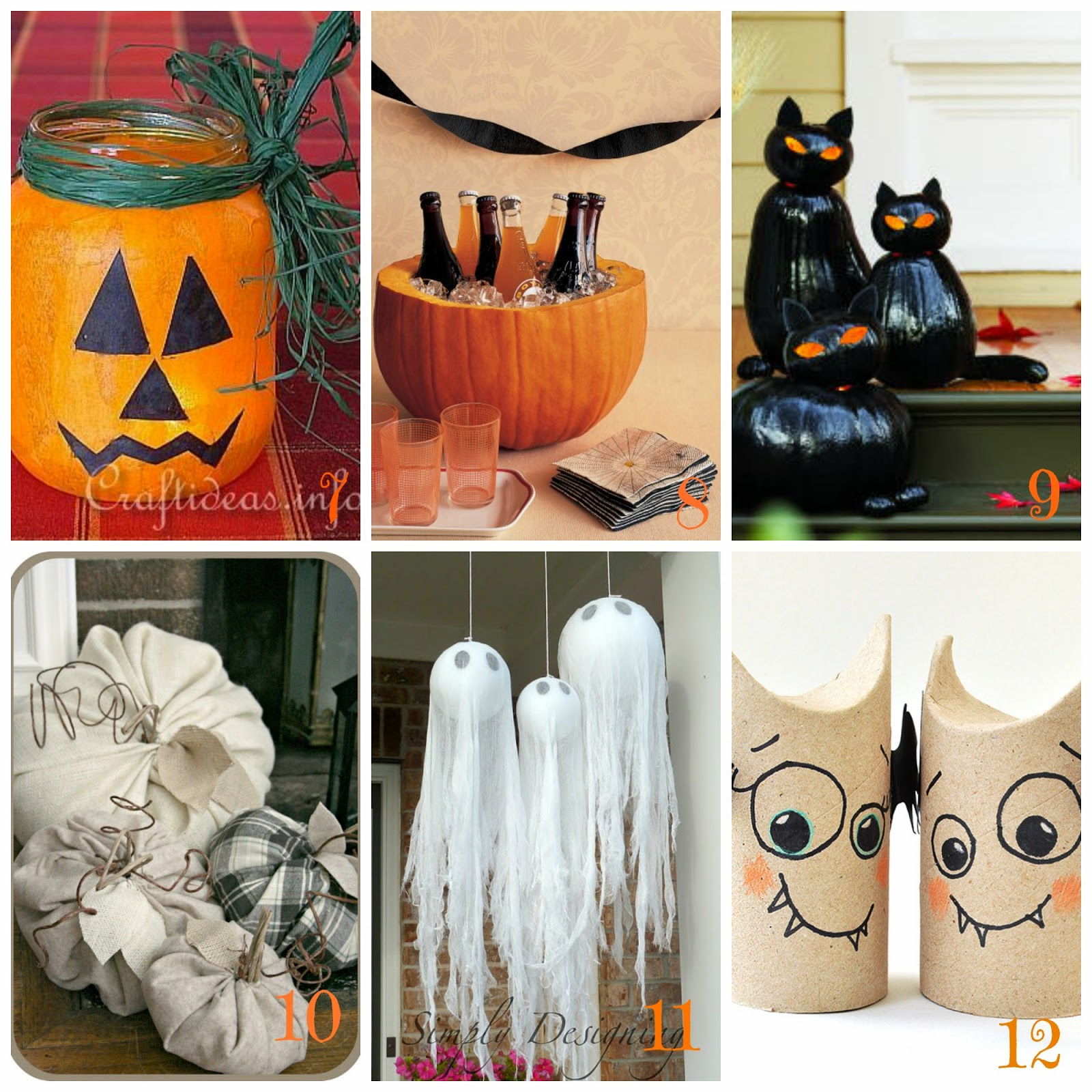 Halloween decorazioni fai da te 12 tutorial facili e veloci dal web - Decorazioni casa halloween ...