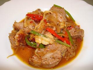 rápido ternera salteado wok