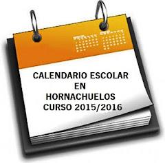 CALENDARIO ESCOLAR CURSO 2015/2016 en HORNACHUELOS.