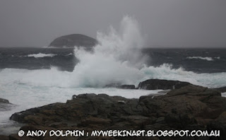 Green Islands, Torndirrup, Albany. Storm. By Andy Dolphin