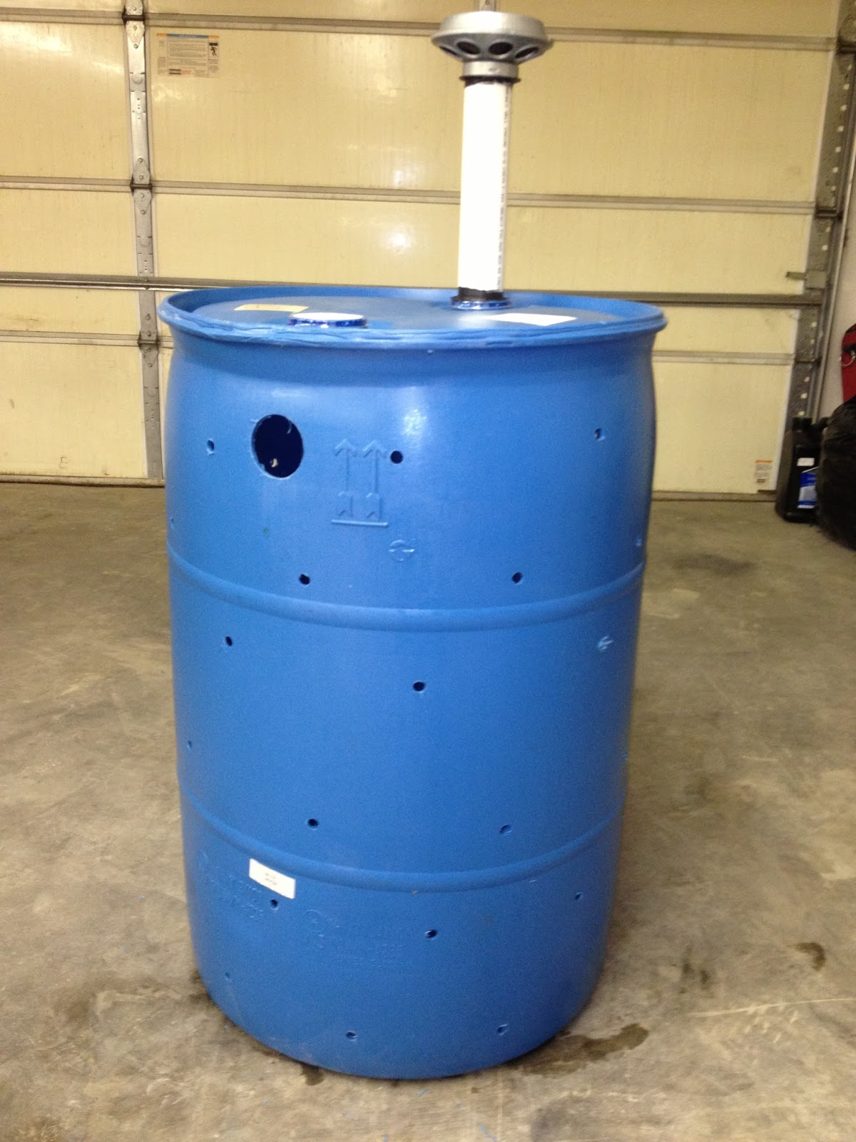 55 gallon drum septic tank for Cabin septic systems