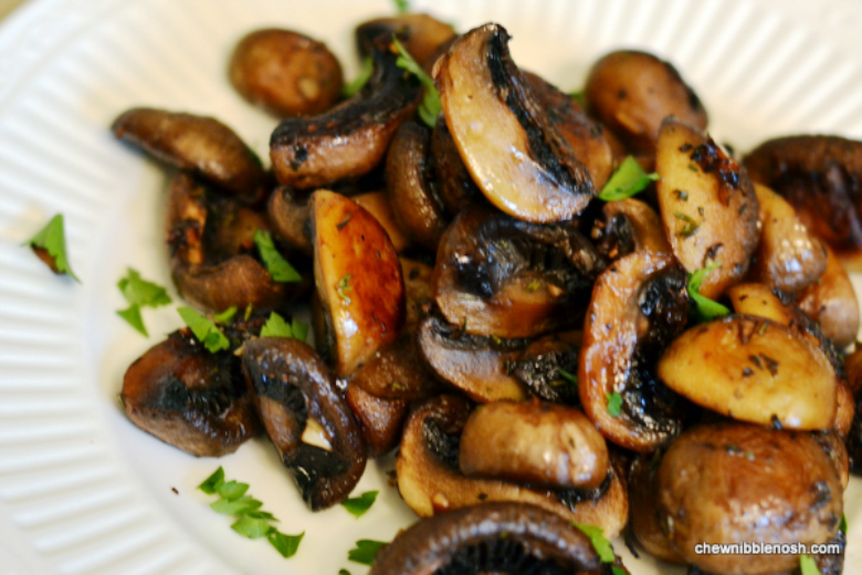 ... Recipes Online: Roasted Mushrooms with Balsamic, Garlic and Thyme