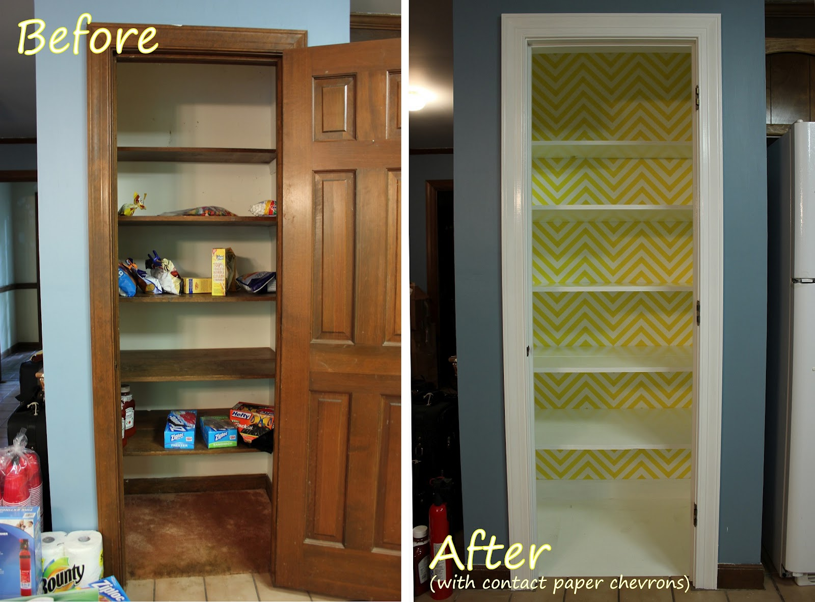 Contact Paper On Walls the handcrafted life*: a bright and sunny pantry makeover