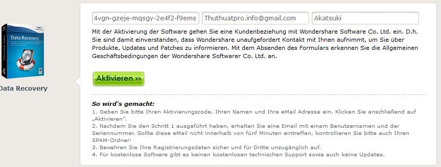Miễn phí phần mềm khôi phục dữ liệu Wondershare Data Recovery 4.2.0