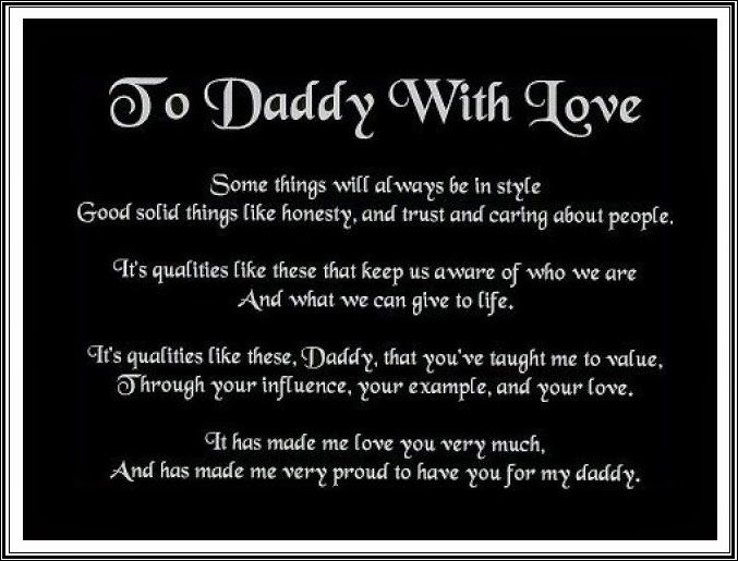 Happy Father s Day Poem Happy Birthday Dad From Daughter Messages