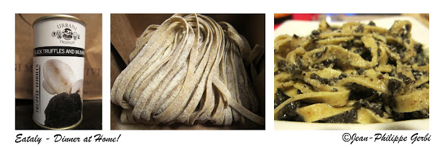 Image of Fresh Pasta with truffle sauce at Eataly NYC, New York