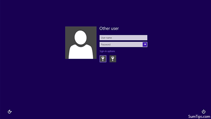 Enable Classic Logon in Windows 8, Require User name and Password