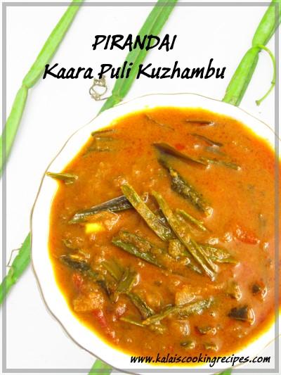 Pirandai Kaara Puli Kuzhambu