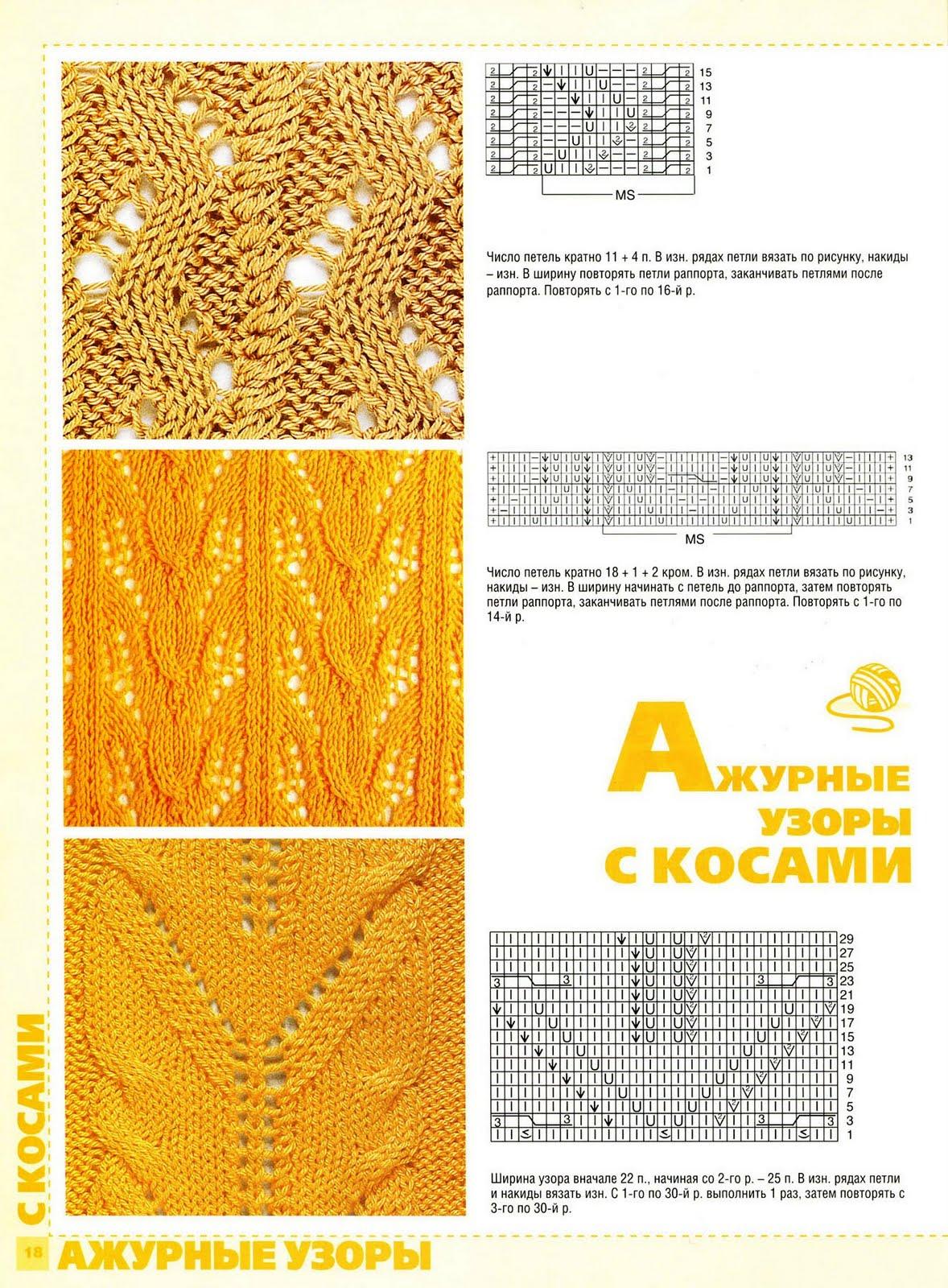 Узоры вязания спицами - Результаты из #130 99