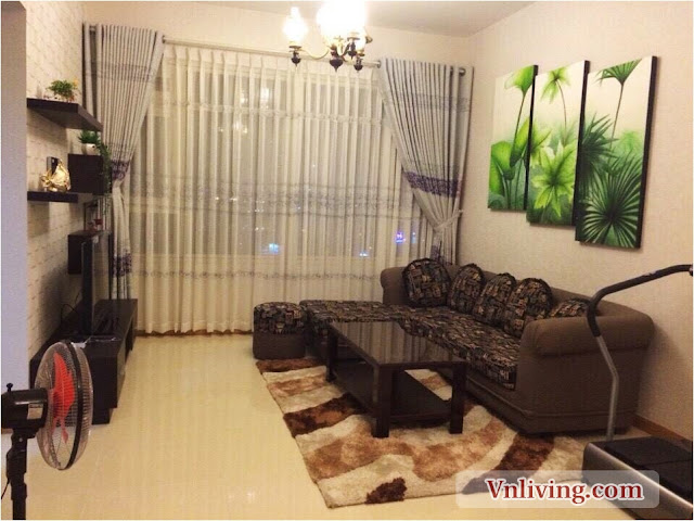 For rent Saigon Pearl apartment in Saphire Block high floor 2 bedrooms