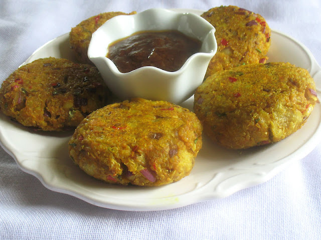 Indian-Style Quinoa Potato Patties