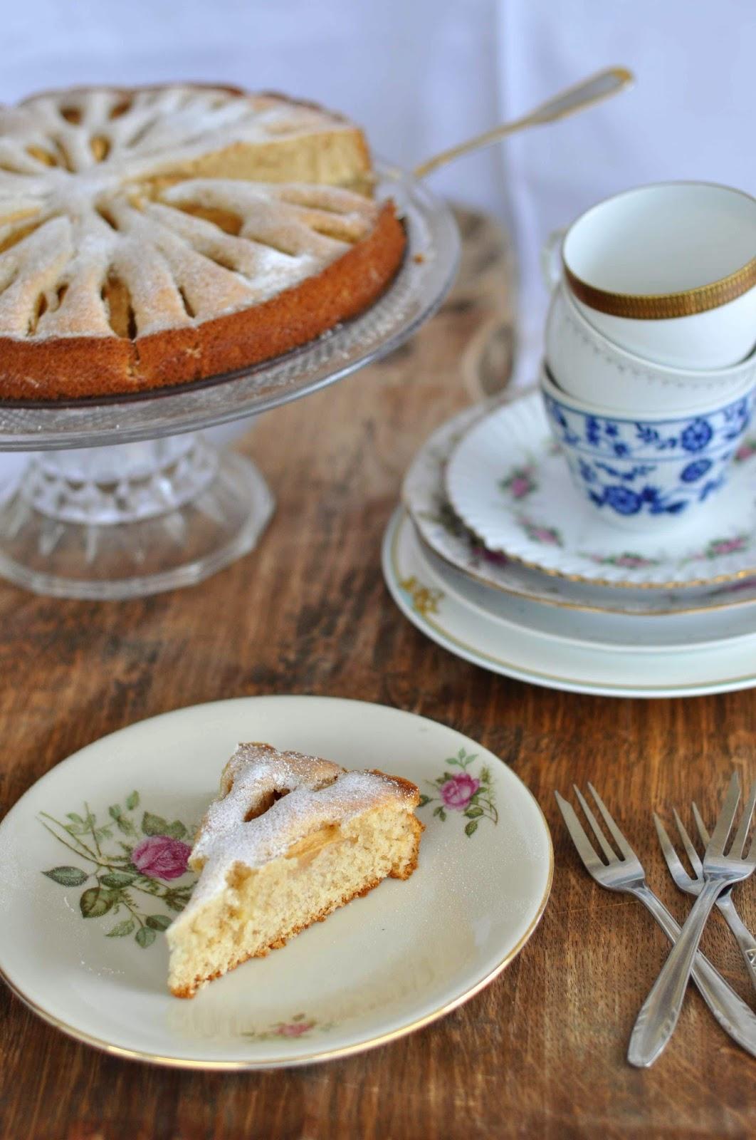 Apfel Kuchen einfach Backen baking sugar cinnamon Zimt Zucker Herbst Lecker