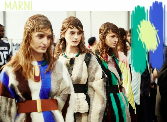 Tendance couleurs defile marni Hiver 2014-15