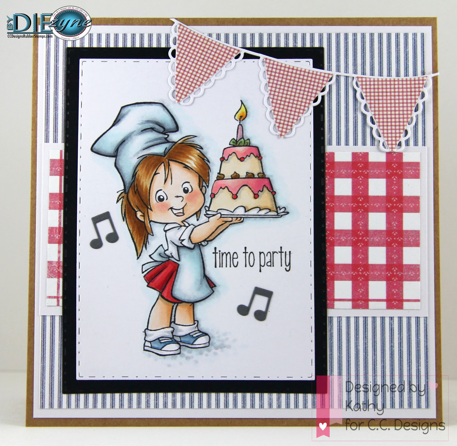 cc designs, Baker Nancy, pierced rectangles die, HB2U sentiments
