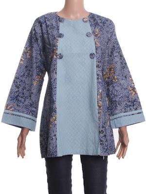 Model Atasan Batik Wanita Gemuk Big Size