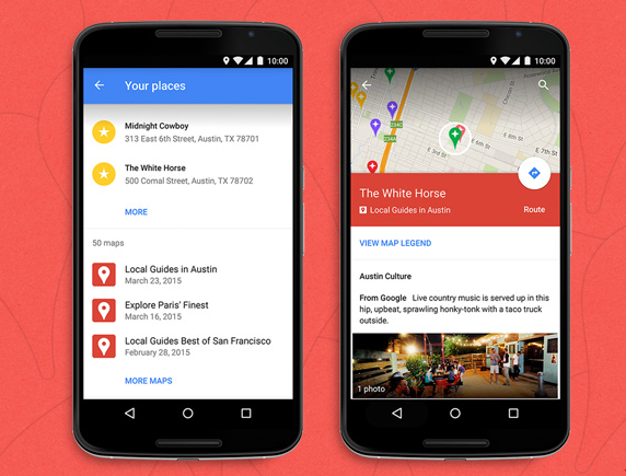 Google My Maps pour Android