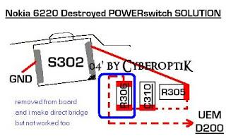 nokia 7210 power