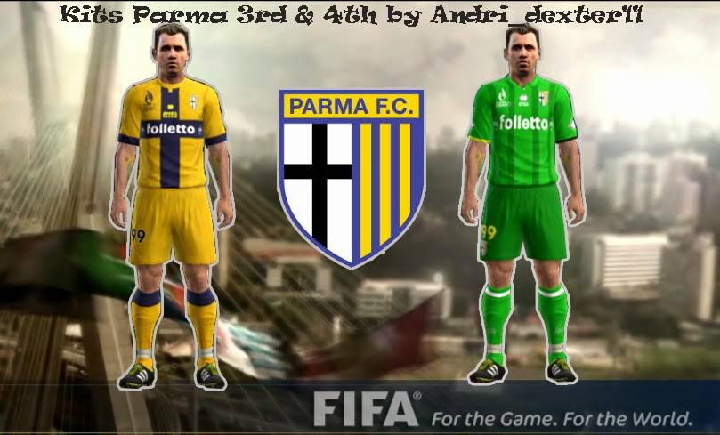 PES 2013 Parma 3rd & 4th Kits 14-15 by Andri_dexter11