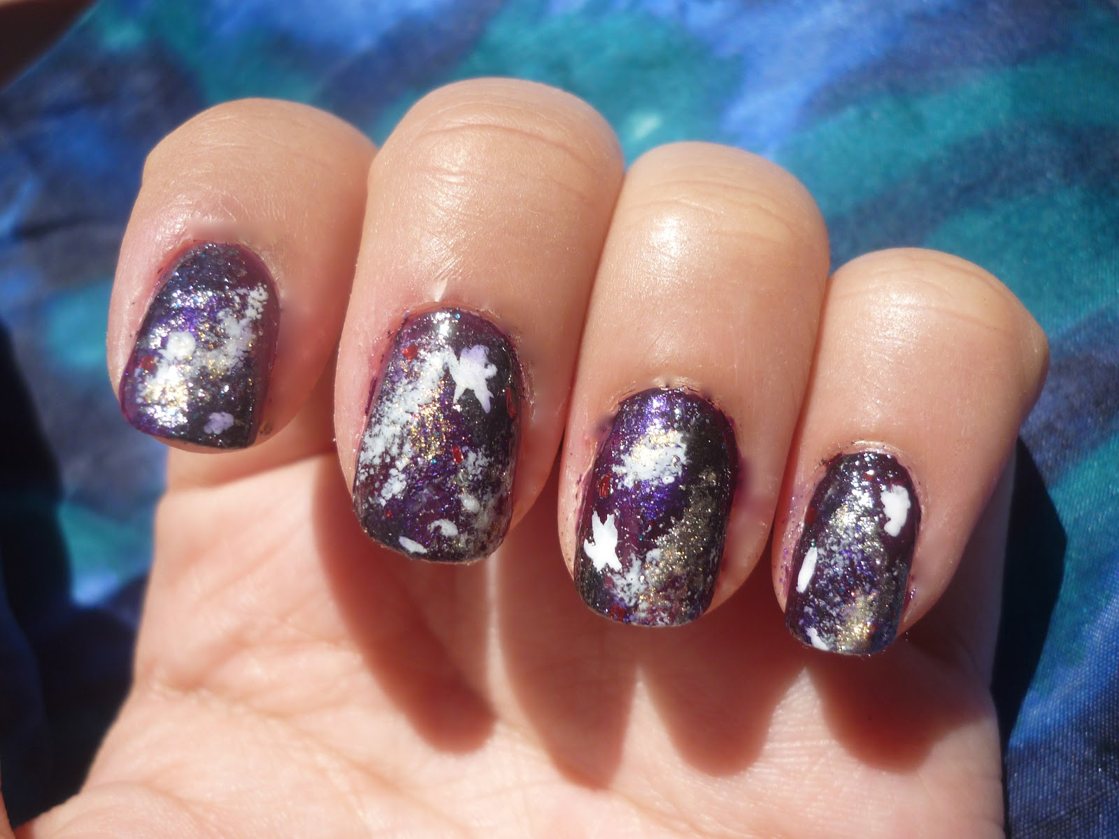 Galaxy Nails Tutorial | taken by surprise
